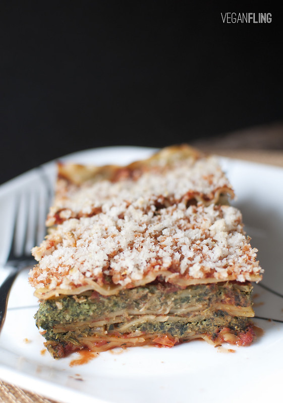 Spinach Vegetable Lasagna | Vegan Fling