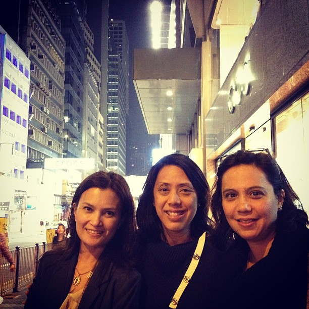 With Bambi & Alicia. Thank you Therese, for the pic. #hk #hongkong #cos