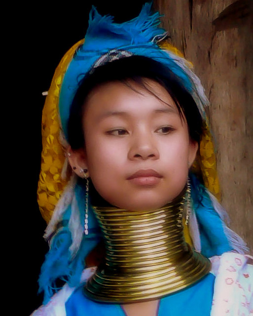 Young Woman Of The Padaung Hill Tribe
