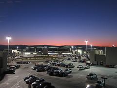 sunset at San Francisco airport