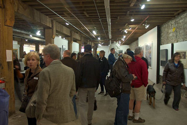 Visitors at BWAC's Wide Open 3