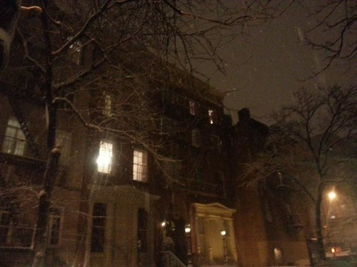 West Village in the snow