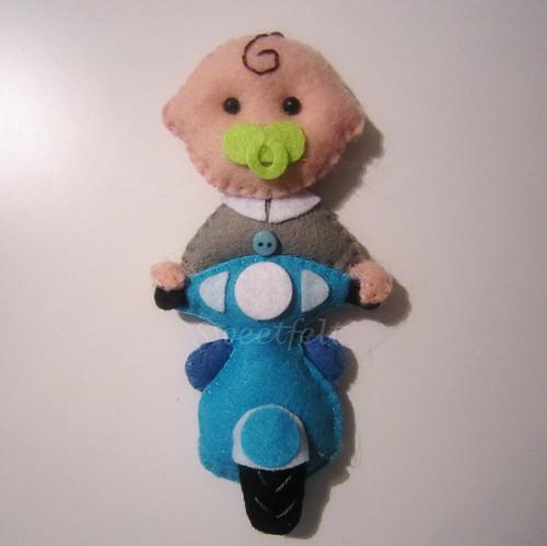 ♥♥♥ Um pedido original... bebé motard... by sweetfelt \ ideias em feltro
