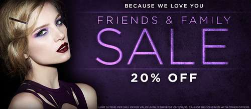 Urban Decay Sale Friends Family 20% off discount Spring 2013 13 FF Naked Palette Primer Potion Coupon Code