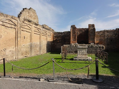 Temple of Vespasian in Pompeii