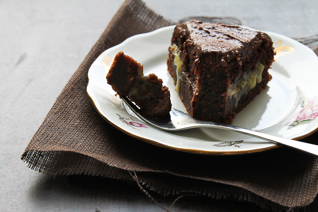 Rich Chocolate Cake with Orange Curd and Chocolate Frosting
