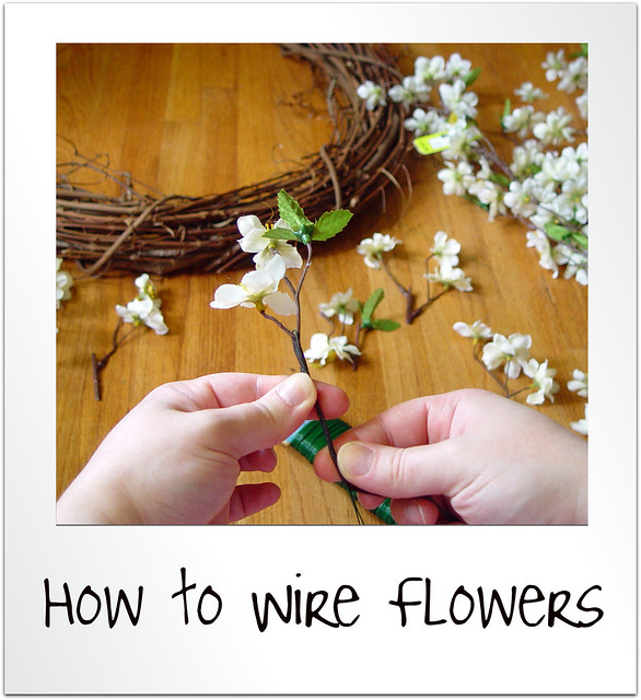 how to wire flowers