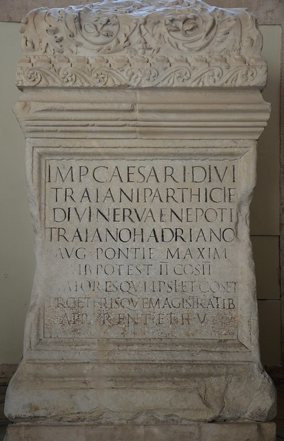 Statue base of Hadrian, from the Altar of the Vicomagistri, 136 AD, Musei Capitolini, Rome