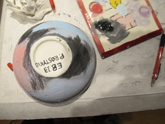 painted bottom of space bowl