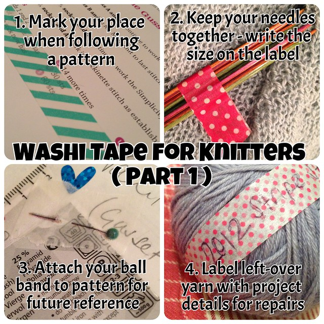 Washi Tape for Knitters - part 1