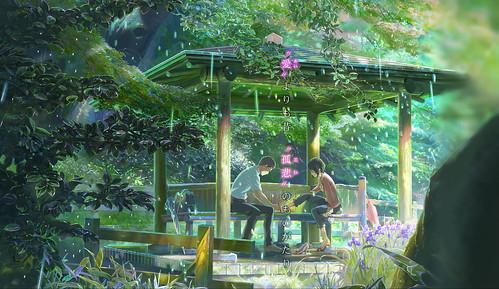 130221(1) - 動畫監督「新海誠」新作《言語之庭》預定5/31上映,聲優名單、故事大意與預告片一同公開!