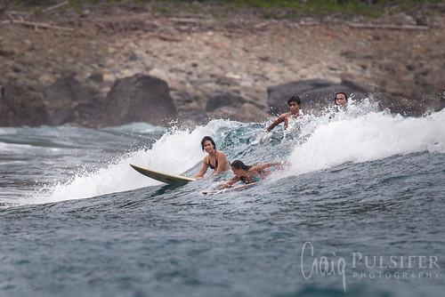 Surfing Dicasalarin Cove, Baler Philippines