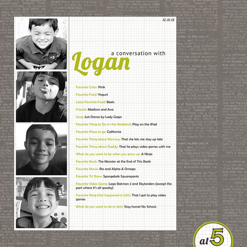 Conversation with Logan at 5 (LOAD Day 25)