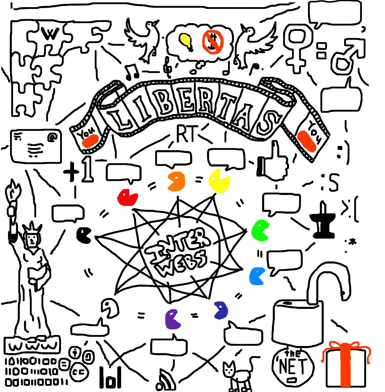 doodle, internet, free internet, open internet,