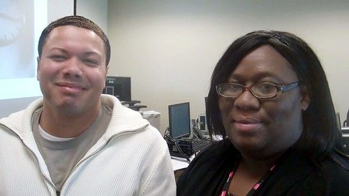 Sedrick Miles—MA with Galveston Infusion Therapy, and Tina Stevens—Patiet Access Specialist at the Access Center.
