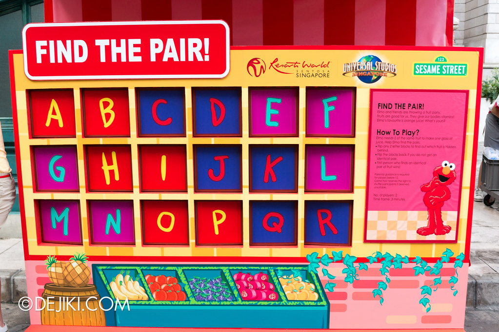Street Game 3 - Elmo / Find the Pair board