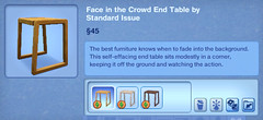 Face in the Crowd End Table by Standard Issue