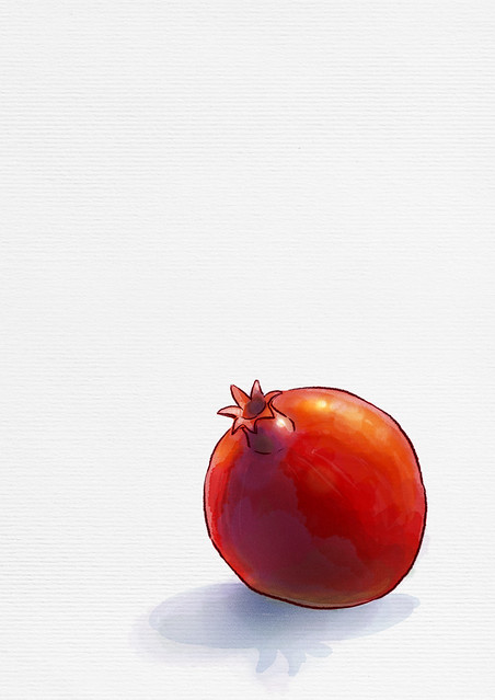 peaceful pomegranate
