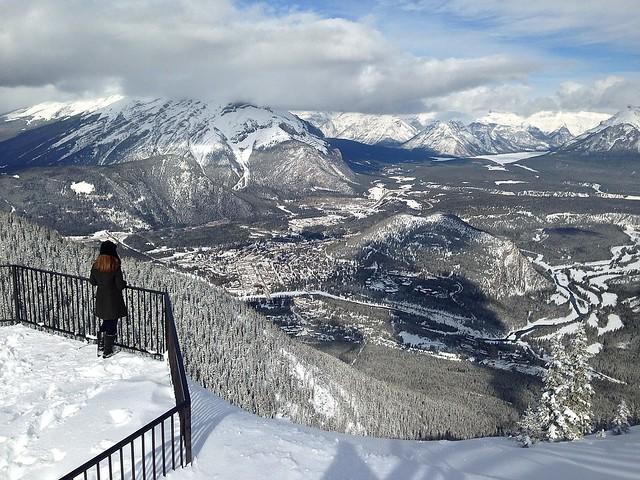 Overlooking Banff Springs Hotel