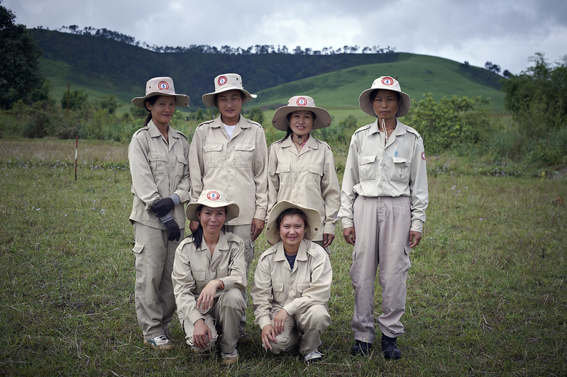 All-women UXO clearance team, Xieng Khuang, Laos, May 2012