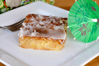 Pineapple Coconut Sheet Cake from Fact Woman and Buttercream Lane Blogs