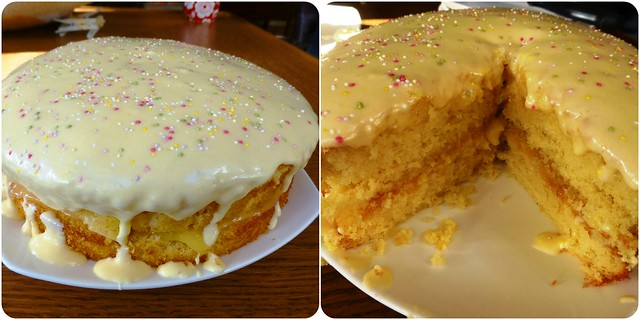 Mother's Day Lemon Curd Cake Mar13