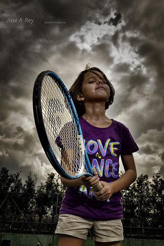 Strobist, Claudia didn´t enjoy Tennis by Rey Cuba