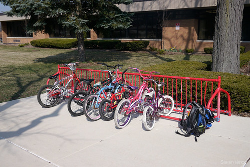 Elementary school bike parking