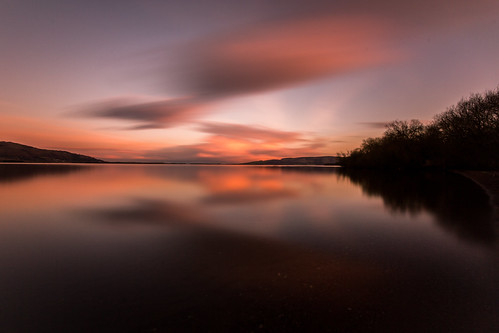 sunset scotland loch leven