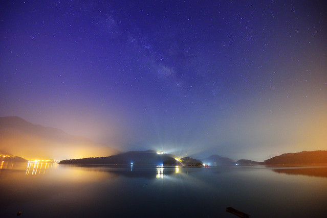 明潭銀河 Milky way at Sun Moon Lake