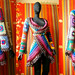 Crochet Coat - Aztec Sun Mandala And Granny Squares In Retro Rainbow Colors And Variegated Brown Edgings by babukatorium