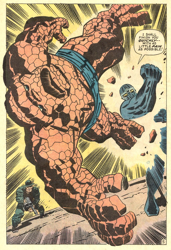 Fantastic Four 93 The Thing vs Torgo splash page 1970