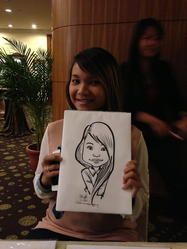 caricature live sketching for South West ComCare Local Network Anniversary Dinner cum ComCare Awards 2013 - w