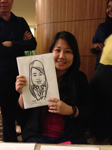 caricature live sketching for South West ComCare Local Network Anniversary Dinner cum ComCare Awards 2013 - x