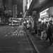 """排隊等巴士 Queue up and wait for the bus"" / 香港夜人流 Hong Kong Nighttime Human Logistics / SML.20130317.7D.35558.BW"