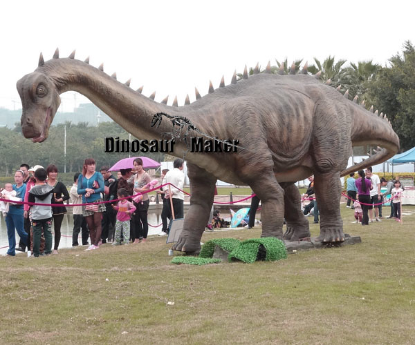 Big Animatronic Dinosaur in Outdoor