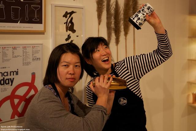 Kayoko and Yoko pose