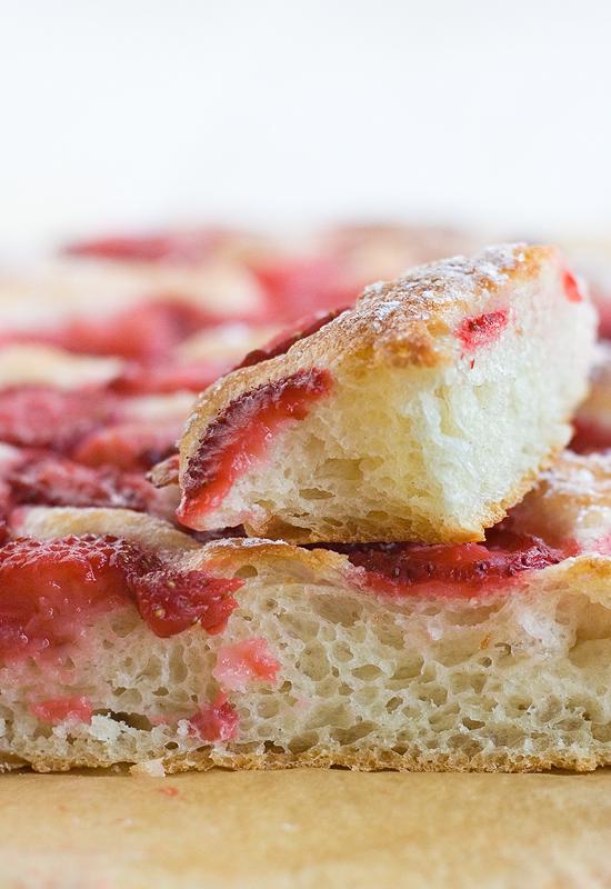 Receta de focaccia de fresas