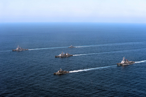 PACIFIC OCEAN - U.S. forward-deployed naval ships from Destroyer Squadron (DESRON) 15 and Republic of Korea (ROK) navy forces concluded their participation in exercise Foal Eagle 2013 (FE 13).