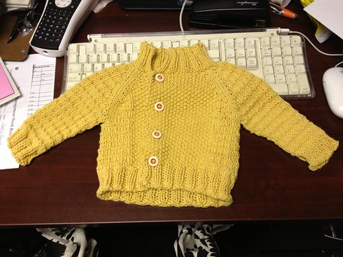 Tiny baby sweater