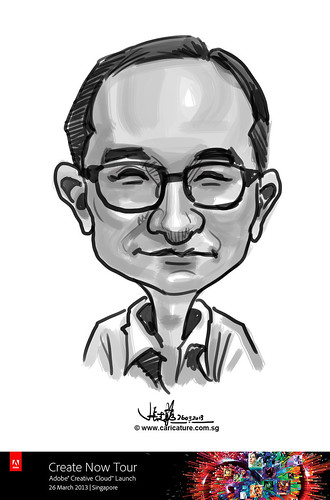 digital caricature for Adobe Create Now Tour - 5
