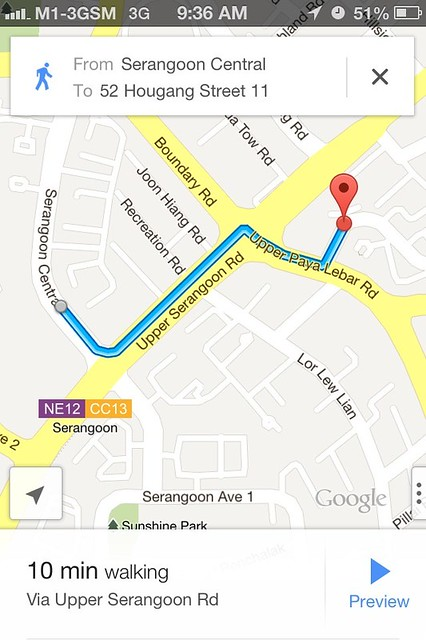 serangoon map