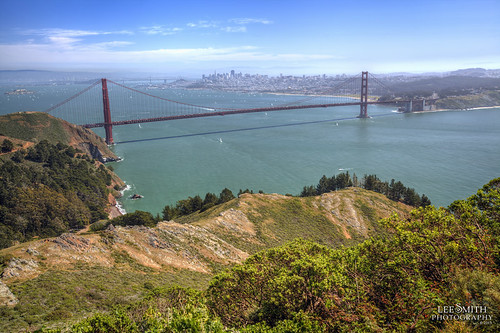 The Golden Gate Bridge From Marin Coastal Park by smittysholdings