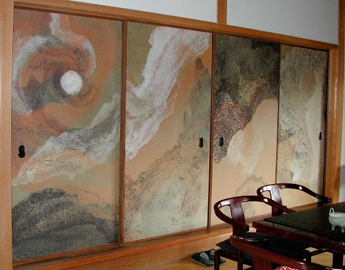 Moontraces, fusuma screens