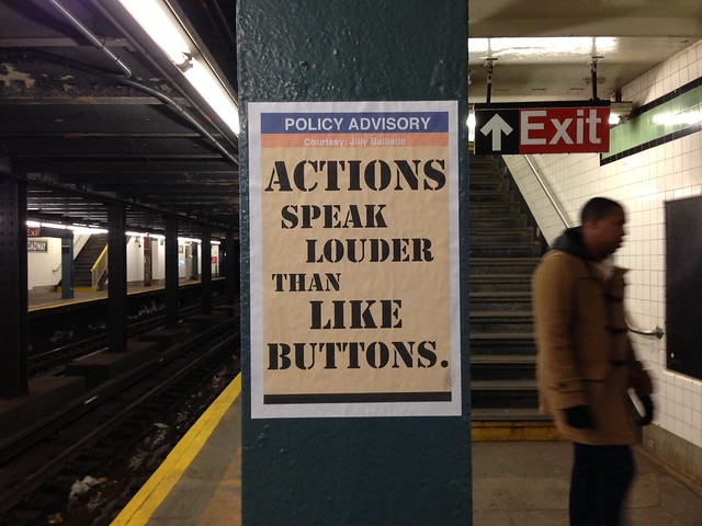 POLICY ADVISORY Actions speak louder than like buttons. (Church bound G; Broadway)