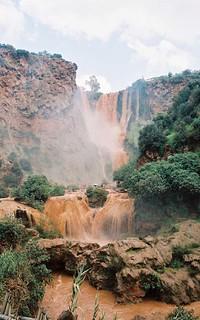 Cascatas de Ouzoud em Marrocos durante o Inverno