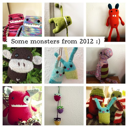 Of everything I knit last year, I knitted monsters the most!