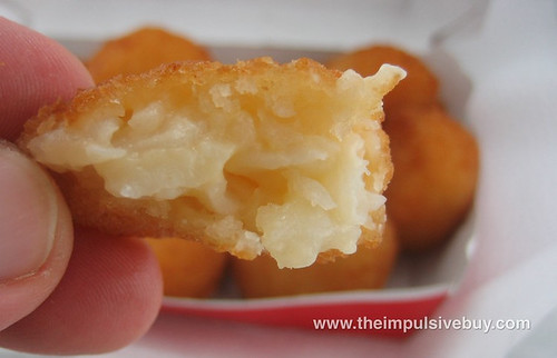Burger King Cheesy Tots Innards