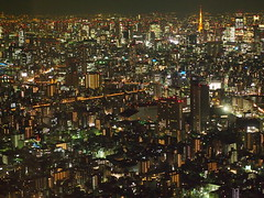 [Free Images] Architecture, City / Town, Night View, Landscape - Japan, Japan - Tokyo ID:201301192000