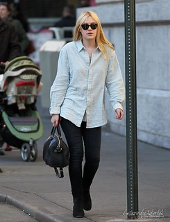 Dakota Fanning Ankle Boots Celebrity Style Women's Fashion